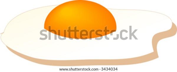 Fried egg, isometric illustration