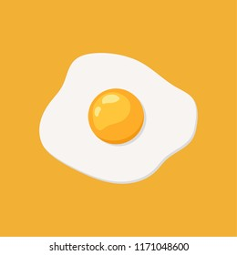 Fried egg vector. free space for text. wallpaper. background.