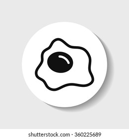 Fried eggs icon.