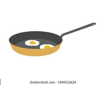 Fried eggs on frying pan - Shutterstock ID 1445513624