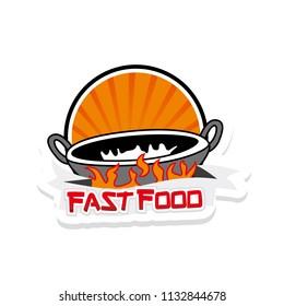 Fried Fire FastFood Logo