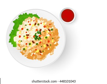 fried rice graphic vector