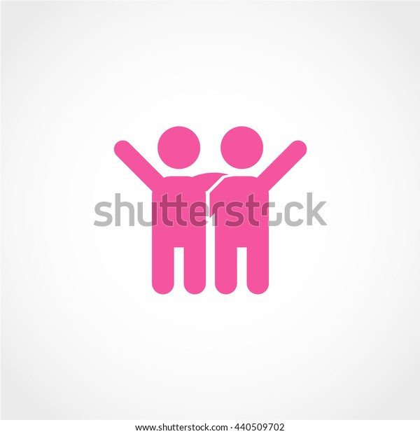 friend Icon Isolated on White Background