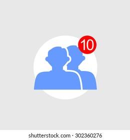 Friend requests icon concept.