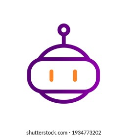 friendly bot artificial intelligence robot icon