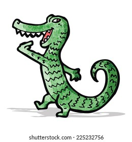 friendly crocodile cartoon character
