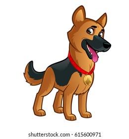 Friendly dog of the German Shepherd breed