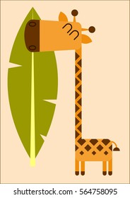Friendly giraffe is the best way to cheer you up. It is perfect for kids room or in the kindergarden.