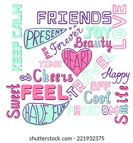 Friendly Hand Lettering Vintage Poster Card
