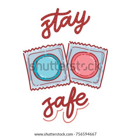 of safer sex Illustration