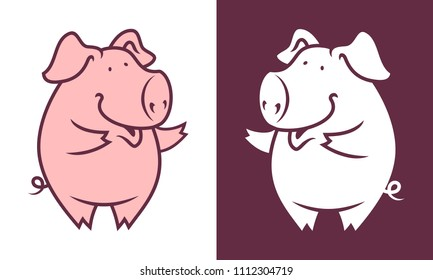 Friendly pig character