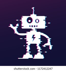 Friendly Robot image with glitch effect