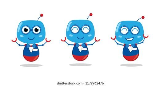 Friendly Robot Mascot