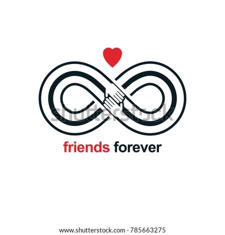 Friends Forever Everlasting Friendship Unusual Vector Stock Vector
