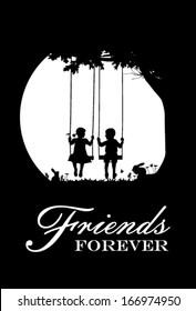 Friends forever, vector