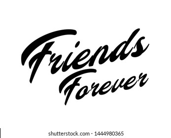 Friends forever vector typography background for photo overlay or heading, title for compliment card -- birthday, office party, posters, flyers, greeting cards, arts and craft, Wallpaper etc.