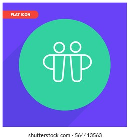 friends line vector icon