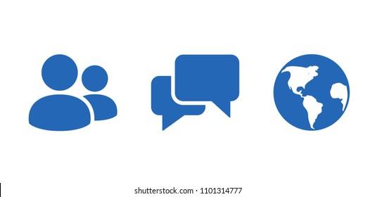 Friends message notification. Social network notification icon. Vector illustration.