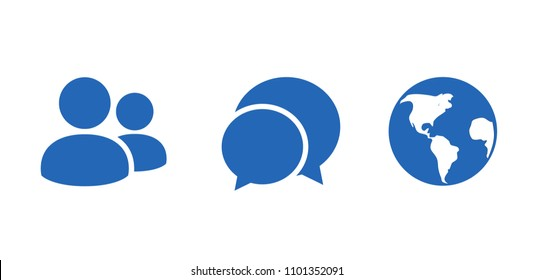 Friends message notification. Social network notification icon. Vector illustration.