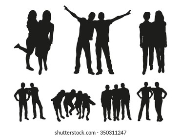 Friends silhouettes
