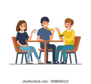 Ilustraciones Imagenes Y Vectores De Stock Sobre People Eating