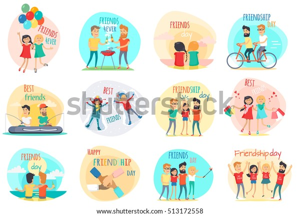 Friendship Best Friend Forever International Friends Stock Vector Royalty Free 513172558