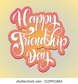 Friendship day hand drawn lettering. Vector elements for invitations, posters, greeting cards. T-shirt design. Friendship quotes.