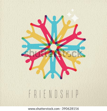 Friendship Diversity Group Concept Illustration Of Diverse People Team Holding Hands In Colorful Style Over
