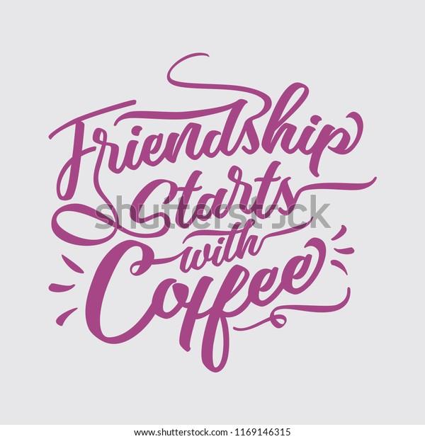 vector de stock libre de regalias sobre friendship starts coffee