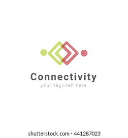 Friendship, Teamwork, Connectivity logo template