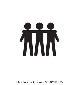 friendship of three icon. Detailed icon of friendship and relationships icon. Premium quality graphic design. One of the collection icon for websites, web design, mobile app on white background