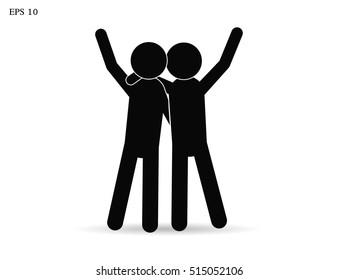 friendship. vector icon