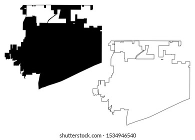 Frisco City (United States cities, United States of America, usa city) map vector illustration, scribble sketch City of Frisco map
