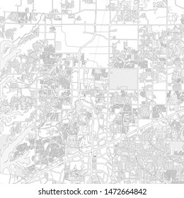 Frisco, Texas, USA, bright outlined vector map with bigger and minor roads and steets created for infographic backgrounds.