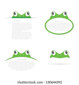 Frog banners - vector illustration