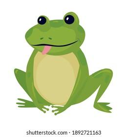 frog cartoon design, Animal zoo life nature and character theme Vector illustration
