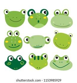 frog character vector design