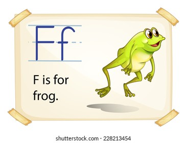 Frog flashcard poster with letters
