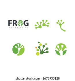 Frog foot Logo Template vector illustration design
