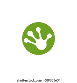 frog hand foot vector silhouette