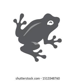 Frog icon isolated on white background. Rainforest Alliance symbol modern, simple, vector, icon for website design, mobile app, ui. Vector Illustration