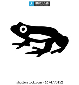 frog icon or logo isolated sign symbol vector illustration - high quality black style vector icons