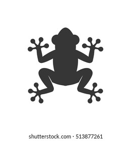 Frog Icon Logo on White Background. Vector