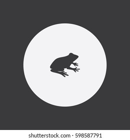Frog icon silhouette vector illustration