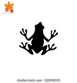 Frog icon. Simple illustration.