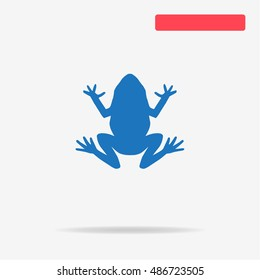 Frog icon. Vector concept illustration for design.