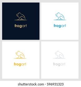 frog line company logo. wild animal logo with minimalist concept