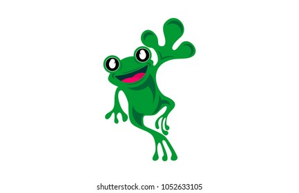 frog logo design template vector illustration