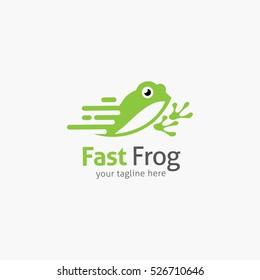 Frog Logo Design Template. Vector Illustration