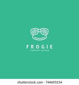 frog logo icon simple modern